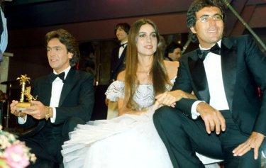 Sanremo 1982 - Albano e Romina con Riccardo Fogli, dietro di loro, Claudio Cecchetto