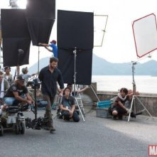 Wolverine: Hugh Jackman sul set circondato dalla crew