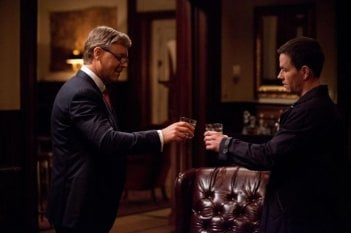 Broken City: Russell Crowe e Mark Wahlberg in una scena del film