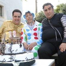 La mia mamma suona il rock: Antonio Fiorillo, Massimo Ceccherini e Lallo Circosta sul set