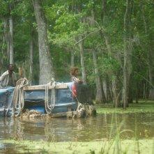 Re della terra selvaggia: Quvenzhané Wallis in una scena del film naviga sul Mississippi