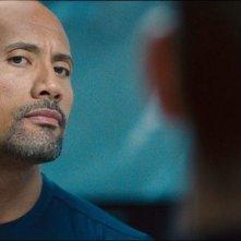 Fast & Furious 6: Dwayne Johnson in una scena d'azione del film