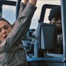 Fast & Furious 6: Gal Gadot in una scena d'azione del film
