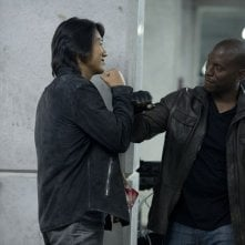Fast & Furious 6: Sung Kang e Tyrese Gibson in una scena