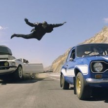 Fast & Furious 6: Tyrese Gibson in una scena d'azione del film