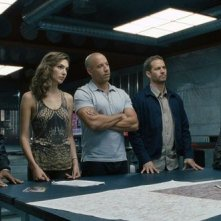 Fast & Furious 6: una scena di gruppo tratta dal film d'azione diretto da Justin Lin