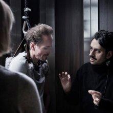 Massimo Coglitore e James Parks sul set di The Elevator