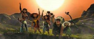 I Croods: una colorata e preistorica scena del nuovo film d'animazione della Dreamworks