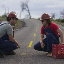 Prince Avalanche: Paul Rudd ed Emile Hirsch in un'immagine del film