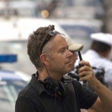 The Look of Love: il regista del film Michael Winterbottom sul set