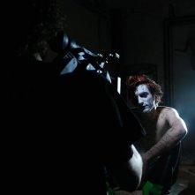 Non ci indurre in tentazione: il regista Nicola Santi Amantini insieme a Lorenzo Berti sul set