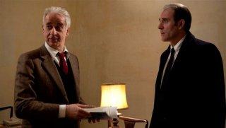 Viva la libertà: il protagonista Toni Servillo insieme a Valerio Mastandrea in una scena