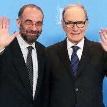 Giuseppe Tornatore e Ennio Morricone a Berlino 2013 per presentare La migliore offerta