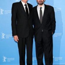 Giuseppe Tornatore e Geoffrey Rush a Berlino 2013 per presentare La migliore offerta