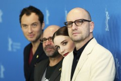 Jude Law, Steven Soderbergh, Rooney Mara a Berlino con Side Effects