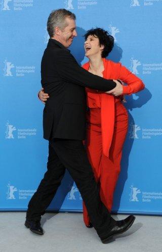 Juliette Binoche con Bruno Dumont alla Berlinale 2013, per presentare Camille Claudel, 1915