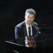 Sanremo 2013: Daniele Silvestri durante la prima serata