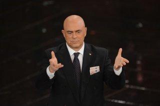 Sanremo 2013: Maurizio Crozza durante la prima serata