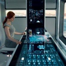 Oblivion: Andrea Riseborough in una scena del film
