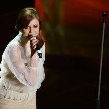 Sanremo 2013: Annalisa Scarrone durante la seconda serata