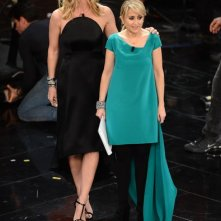 Sanremo 2013, seconda serata - Filippa Lagerback con Luciana Littizzetto