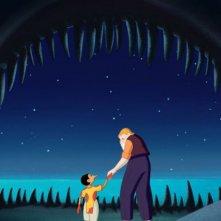 Pinocchio: Pinocchio e Mastro Geppetto in una scena del film di Enzo d'Alò