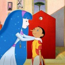 Pinocchio: Pinocchio in una scena del film con la fata turchina