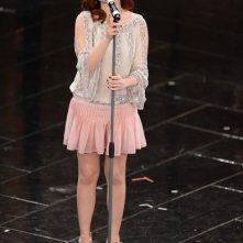 Sanremo 2013: Annalisa Scarrone durante la terza serata