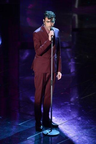 Sanremo 2013:  Marco Mengoni durante la terza serata