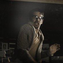 Sinister: Ethan Hawke terrorizzato in un momento del film