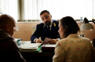 Tutti contro tutti: Massimiliano Bruno con Rolando Ravello e Kasia Smutniak in una scena del film