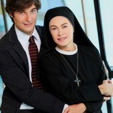 Che Dio ci aiuti 2: Elena Sofia Ricci e Lino Guanciale in una immagine promozionale della fiction