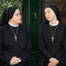 Che Dio ci aiuti 2: Elena Sofia Ricci e Valeria Fabrizi in una scena della fiction Rai