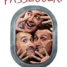 Gli amanti passeggeri: il character poster italiano con Javier Cámara, Carlos Areces e Raúl Arévalo