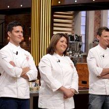 Masterchef 2: i tre finalisti Tiziana Stefanelli, Maurizio Rosazza ed Andrea Marconetti