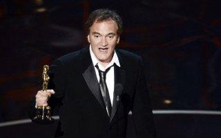 Oscar 2013: Quentin Tarantino con la statuetta vinta per Django Unchained