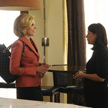 The Good Wife: Maura Tierney e Christine Baranski nell'episodio And The Law Won