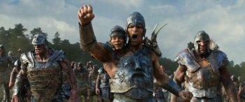 Il cacciatore di giganti: l'esercito dei giganti esulta in una scena del film
