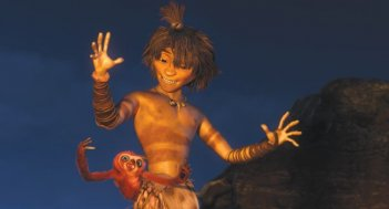 I Croods: Guy in una scena del film
