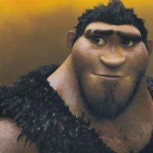 I Croods: l'uomo delle caverne Grug in una scena del film