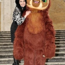 I Croods: Laccio il bradipo a Trinità dei Monti insieme a Rosalia Misseri (doppiatrice di Hip)