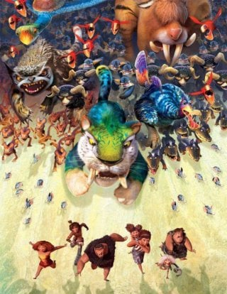 I Croods: una colorata e preistorica scena del film