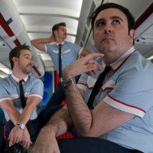 Gli amanti passeggeri: Javier Cámara, Raúl Arévalo e Carlos Areces in una immagine del film