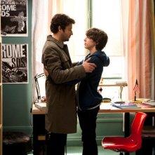 L'amore inatteso: Eric Caravaca con Quentin Grosset sono padre e figlio in una scena del film