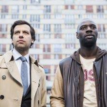 Due agenti molto speciali: Omar Sy e Laurent Lafitte in una scena della commedia
