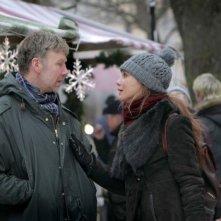 L'ipnotista: Mikael Persbrandt e Lena Olin discutono animatamente in una scena