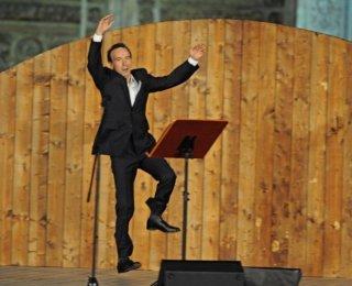 Roberto Benigni nello show 'TuttoDante' mandato in onda da RaiDue