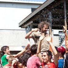 Bianca come il latte, rossa come il sangue: il regista Giacomo Campiotti festeggiato sul set