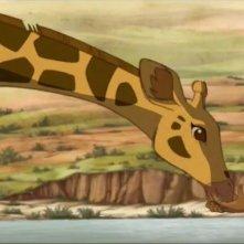 Le avventure di Zarafa - Giraffa Giramondo: Maki con la giraffa Zarafa in una tenera scena
