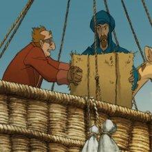 Le avventure di Zarafa - Giraffa Giramondo: un'immagine in aria del film d'animazione